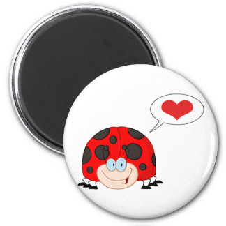 Ladybug With Speech Bubble Magnet