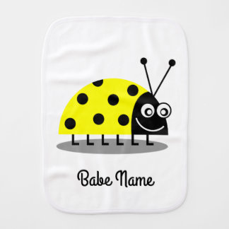 Ladybug Yellow Burp Cloth