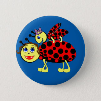 Ladybugs 2 Inch Round Button