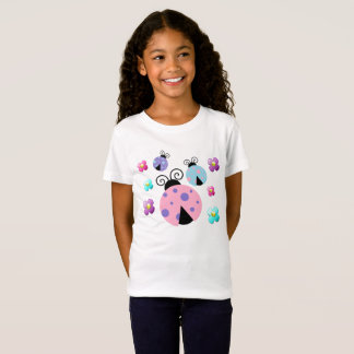 Ladybugs and Daisies Girl's T-Shirt