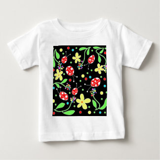 Ladybugs and flowers baby T-Shirt