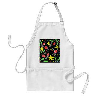 Ladybugs and flowers standard apron