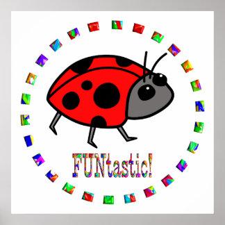 Ladybugs are Funtastic Print