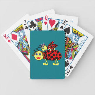 Ladybugs Bicycle Playing Cards