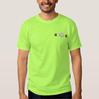 Ladybugs/ Flower Embroidered T-Shirt