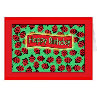 ladybugs happy birthday . card