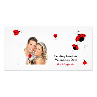 Ladybugs in Love Valentine Photo Cards