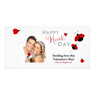 Ladybugs in Love Valentine Photo Cards
