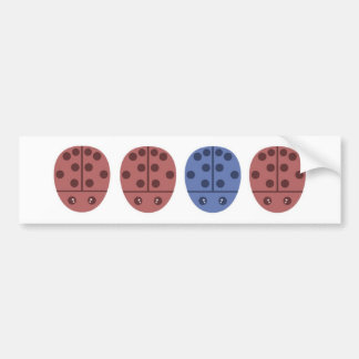 Ladybugs in Pink Blue Bumper Sticker