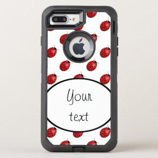 Ladybugs in red OtterBox defender iPhone 8 plus/7 plus case