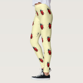 Ladybugs, Ladybird Pattern, Red and Yellow, Insect Leggings