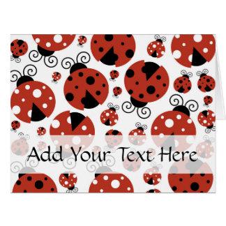 Ladybugs (Ladybirds, Lady Beetles) - Red Black Card