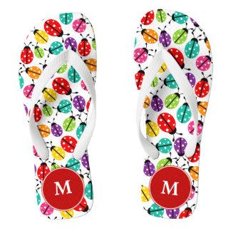 Ladybugs Monogrammed Flip-flops Flip Flops