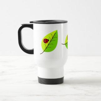 Ladybugs On Leaves Mug