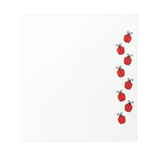 Ladybugs on Parade Notepad