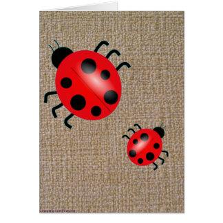 Ladybugs on the Carpet Card