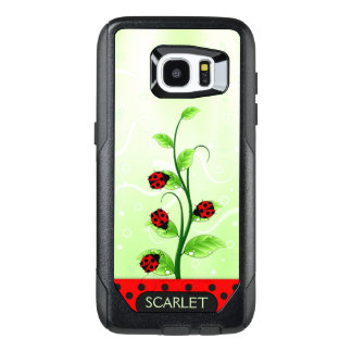 Ladybugs or Ladybirds Green Leaves on Growing Vine OtterBox Samsung Galaxy S7 Edge Case