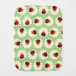 Ladybugs pattern baby burp cloths