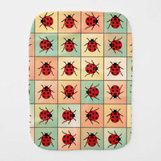 Ladybugs pattern burp cloths