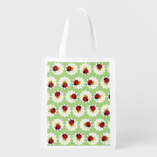 Ladybugs pattern grocery bags