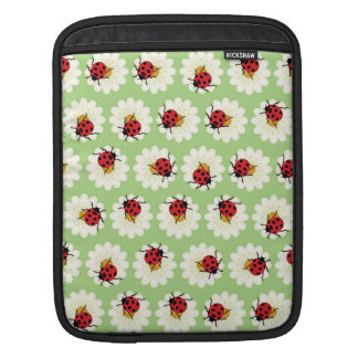 Ladybugs pattern iPad sleeve