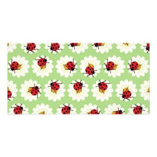 Ladybugs pattern photo greeting card