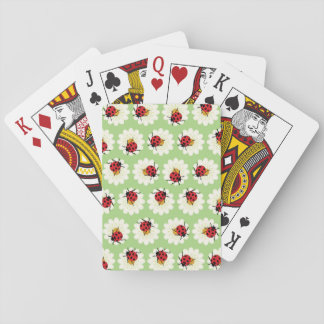Ladybugs pattern playing cards