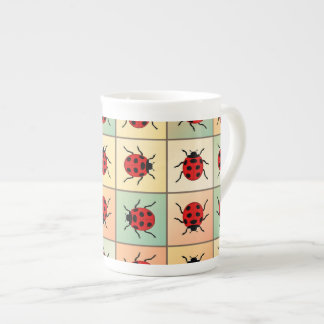 Ladybugs pattern tea cup