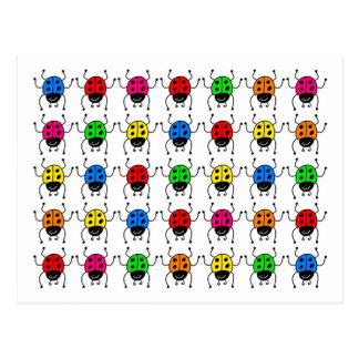 ladybugs postcard