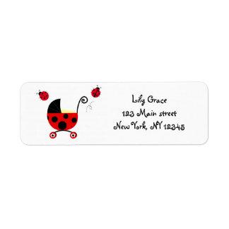 Ladybugs Return address labels