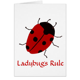 Ladybugs Rule Cards