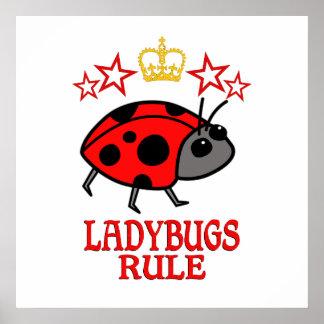 Ladybugs Rule Poster