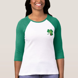 Ladybugs Shamrock 3/4 Sleeve T-Shirt