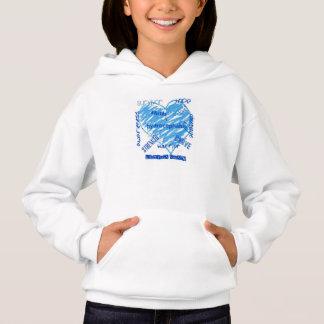 ladybugs swarm logo kids hoodie