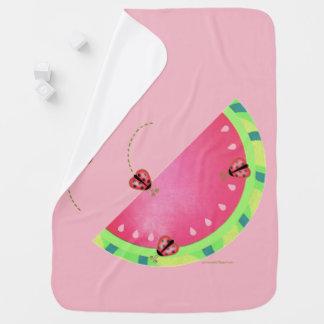 Ladybug's Watermelon (pink) baby blanket