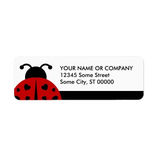 ladybugz. return address label