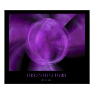 Ladyelf's Purple Passion Poster