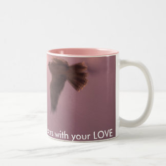 ladyhawk Mother, my heart soars with your LOVE Two-Tone Mug