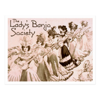 Lady's Banjo Society Postcard