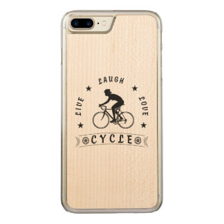 Lady's Live Laugh Love Cycle text (blk) Carved iPhone 8 Plus/7 Plus Case