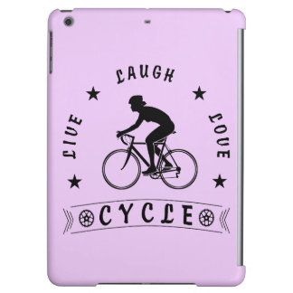 Lady's Live Laugh Love Cycle text (blk) Cover For iPad Air