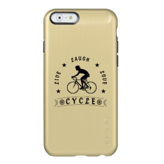 Lady's Live Laugh Love Cycle text (blk) Incipio Feather® Shine iPhone 6 Case