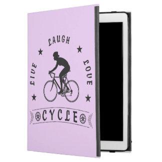 "Lady's Live Laugh Love Cycle text (blk) iPad Pro 12.9"" Case"