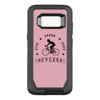 Lady's Live Laugh Love Cycle text (blk) OtterBox Defender Samsung Galaxy S8 Case