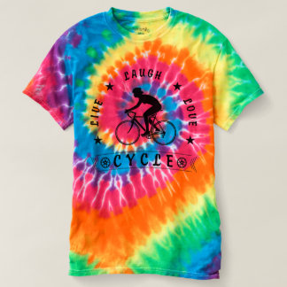 Lady's Live Laugh Love Cycle text (blk) T-shirt