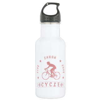 Lady's Live Laugh Love Cycle text (pink) 532 Ml Water Bottle