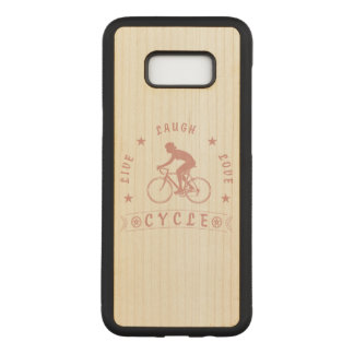 Lady's Live Laugh Love Cycle text (pink) Carved Samsung Galaxy S8+ Case