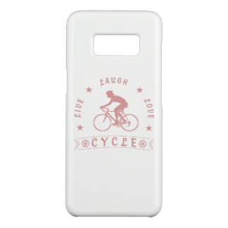 Lady's Live Laugh Love Cycle text (pink) Case-Mate Samsung Galaxy S8 Case