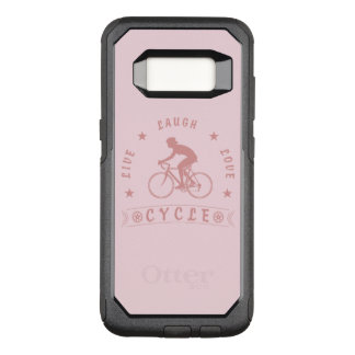 Lady's Live Laugh Love Cycle text (pink) OtterBox Commuter Samsung Galaxy S8 Case