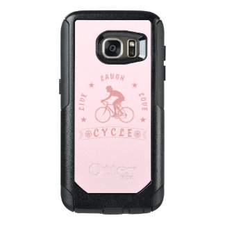 Lady's Live Laugh Love Cycle text (pink) OtterBox Samsung Galaxy S7 Case